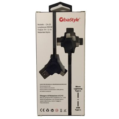 3 IN 1 USB OTG CABLE FOR DATA RECHARGE AND SYNCHRONIZATION