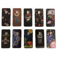 BLACK SEMIHARD COVER CASE IN ASSORTED GRAPHIC DESIGNS AND GLAZED EFFECT