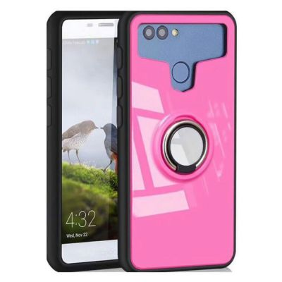 SEMIHARD UNIVERSAL COVER CASE WITH MAGNETIC PLATE AND RING KICKSTAND