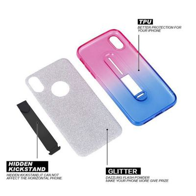 TONGUE KICKSTAND GLITTER SOFT COVER CASE