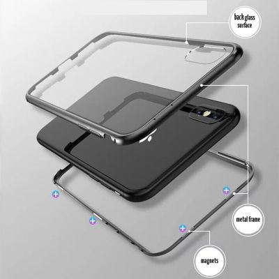 MAGNETIC TEMPERED GLASS HARD COVER CASE