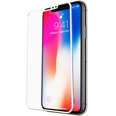5D PRO BLACK TEMPERED GLASS SCREEN PROTECTOR FOR IPHONE X
