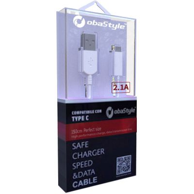 150CM 2.1A TYPE C DATA SYNC CHARGING CABLE