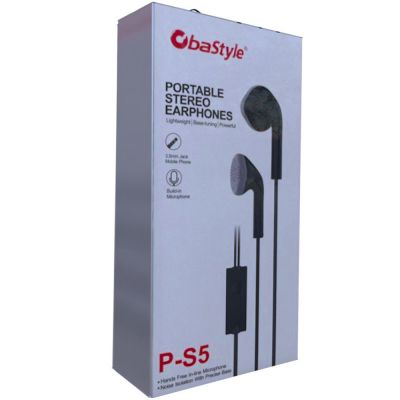 IN-EAR STEREO EARPHONES WITH MIC, ANSWER BUTTON AND JACK 3.5MM