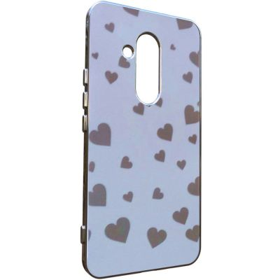 CLEAR FINISH SOFT COVER CASE HEARTS DESIGN
