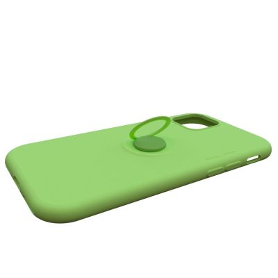 SOFT TOUCH SILICONE RUBBER COVER CASE WITH RING KICKSTAND