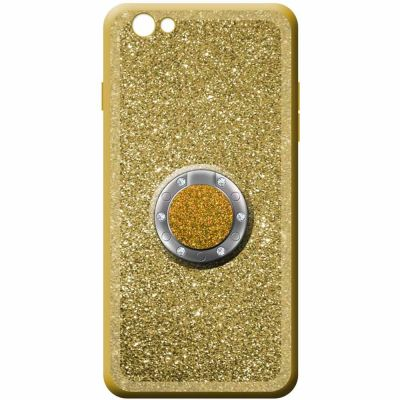 GLITTER SOFT COVER CASE WITH RING KICKSTAND