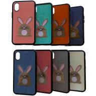 SEMIHARD COVER WITH FABRIC COATING AND BUNNY GRAPHIC
