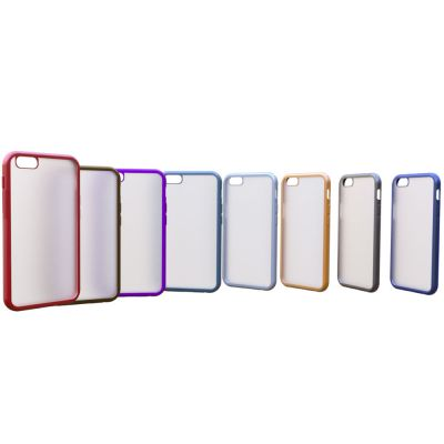 SOFT SEMICLEAR COVER CASE WITH COLOURED EDGES