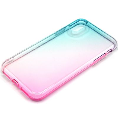 DOUBLE COLOR SHADED EFFECT SEMICLEAR SOFT COVER CASE