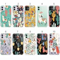 LLAMA AND CACTUS Soft cover case
