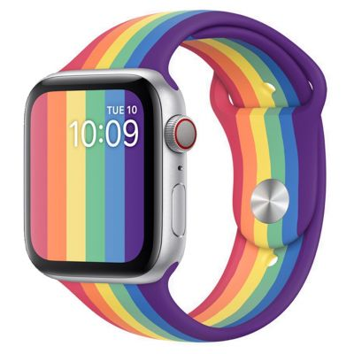 SOFT TOUCH EFFECT MULTICOLOUR SMARTWATCH BAND