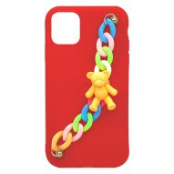 MATTE FINISH SOFT COVER CASE WITH CHARMS