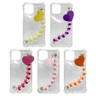 SOFT CLEAR COVER CASE WITH CHARMS