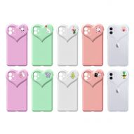 HEART SHAPED GLOSS FINISH SOFT COVER CASE