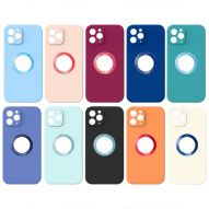 SOFT TOUCH SOFT COVER CASE WITH LOGO HOLE